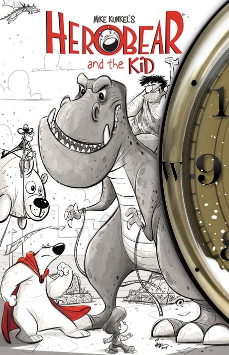 HERO BEAR AND THE KID: SAVING TIME #2 Cover by Mike Kunkel