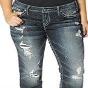 Silver Jeans Co Plus Size Aiko Baby Bootcut Jeans