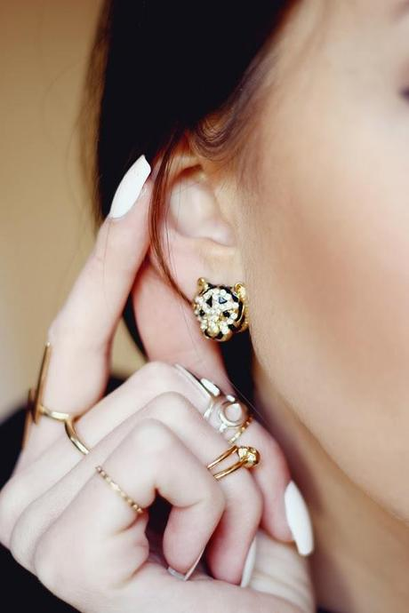 lion earrings, fashionable jewellery, romwe, street style, romwe fashion, top uk blogs, best fashion bloggers, top fashion bloggers, british bloggers, cambridge fashion blogs, cambridge fashion bloggers, primark jewellery, primark blogger, primark haul 2014