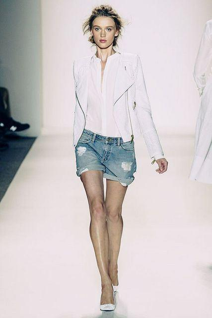 White Blazer and Shorts