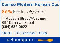 Damso Modern Korean Cuisine on Urbanspoon