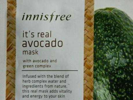 Innisfree It's Real Avocado Sheet Mask Review