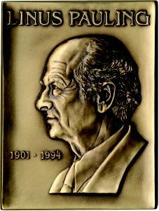 The Linus Pauling Legacy Award medal.