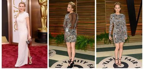 Naomi Watts and Jennifer Lawrence Oscars shoes fashion trends 2014
