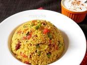 Daliya Upma /Cracked Wheat Vegetable Pulao