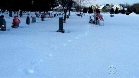 Myles visits dad's grave