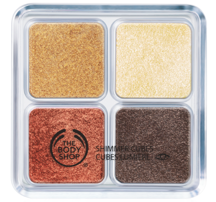 the body shop shimmer cubes gold