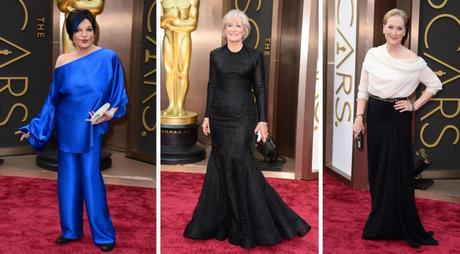 Glenn Close Liza Minelli and Meryl Streep Oscars 2014 fashion from the guardian
