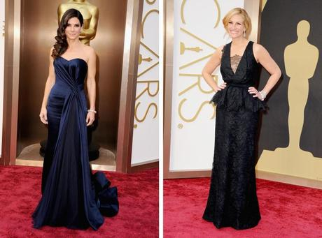 Julia Roberts and Sandra Bullock Oscars 2014 fashion from The Guardian