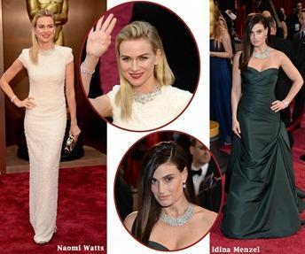 Naomi Watts and Idina Menzel at 2014 Oscars