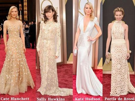 Cate Blanchett, Sally Hawkins, Kate Hudson and Portia de Rossi at 2014 Oscars