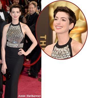 Anne Hathaway at the 2014 Oscars