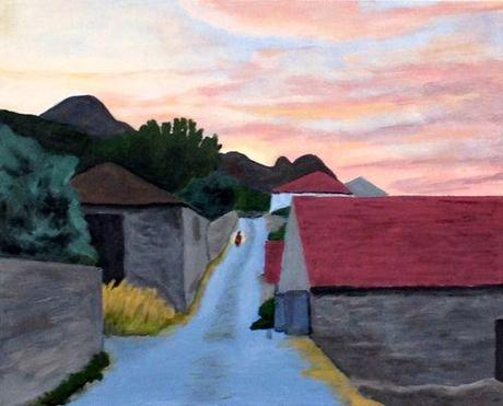 Painting Of Sunset Mytilini Samos Greece 3 Paperblog
