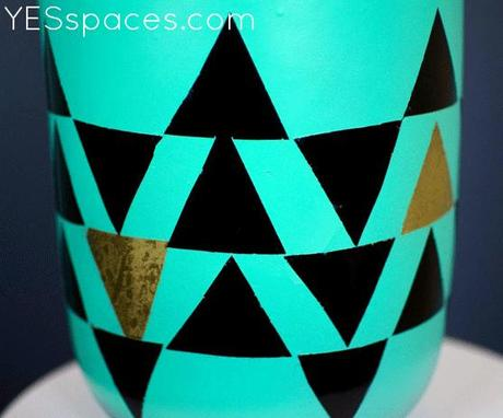 Stunningly Simple Turquoise Geometric Lamp For Less Than 52 Paperblog