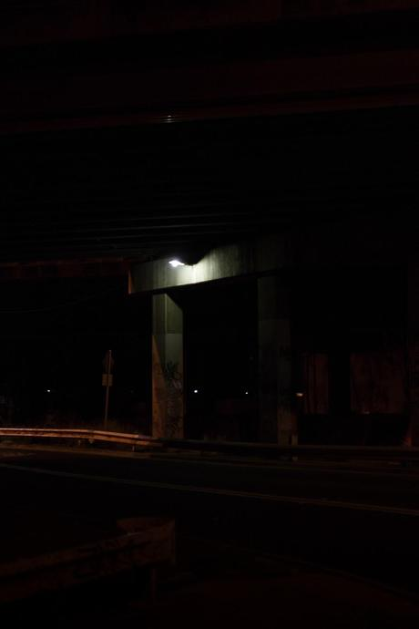 road overpass at night