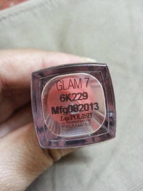 Review Maybelline LipPOLISH - Glam 7
