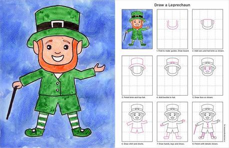 How to draw a leprechaun paperblog how to draw a leprechaun ccuart Choice Image