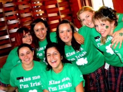 The girls of PJ Gallaghers on St. Patrick's Day 2010.