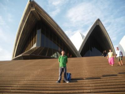 jonny blair backpacking in sydney