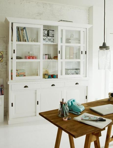 beautiful cabinet with sliding glass doors Live Simply by Annie