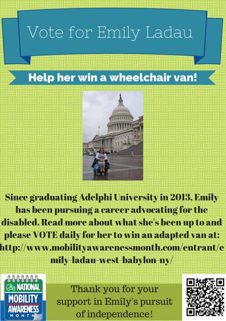 Vote for Emily Ladau in the NMEDA Wheelchair Van Contest