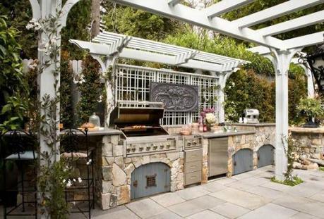 design inspirations outdoor kitchens @Simone Design Blog