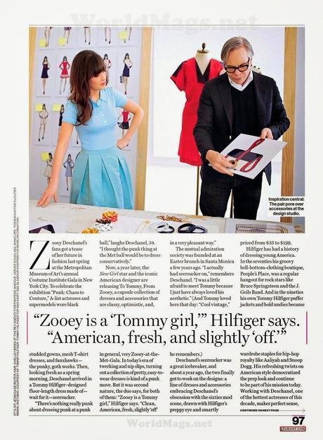 Zooey Deschanel - Glamour Magazine US, April 2014