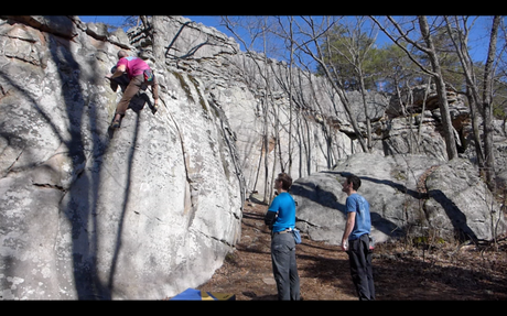 One of my harder climbs of the day, Crescent Slab V7. I had done this one previously.