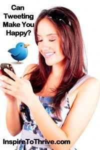 tweeting happy