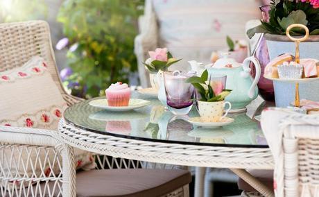 garden furniture, garden party, summer garden party