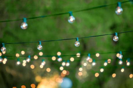 garden lights, summer garden party, garden party lights