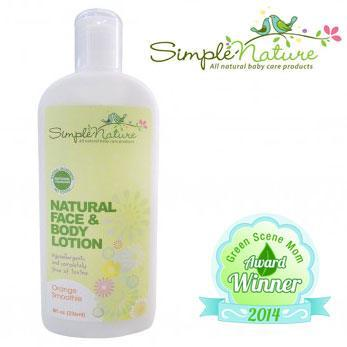 Simple Nature Natural Face and Body Lotion Green Scene Mom Award Winner