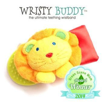 Wristy Buddy Teething Wristband Green Scene Mom Award Winner