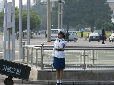Eye candy with the Pyongyang traffic ladies. Don't get your Yang out or you'll get Pyonged!