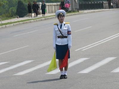 pyongyang traffic ladies