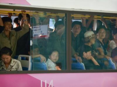 north korea pyongyang bus