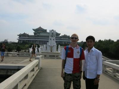 Hanging out with my tour guide trying to learn a bit of Korean.
