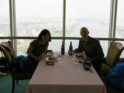 revolving restaurant north korea