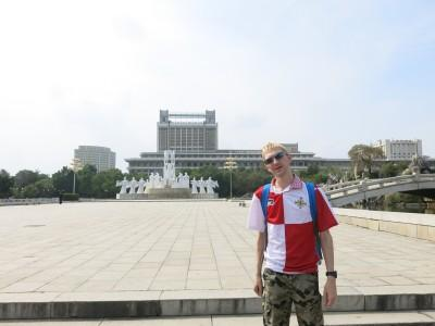 At the Mansudae Art Theatre in Pyongyang.