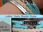 Leather Charm Bracelet from Penny Auctions Canada {Review}