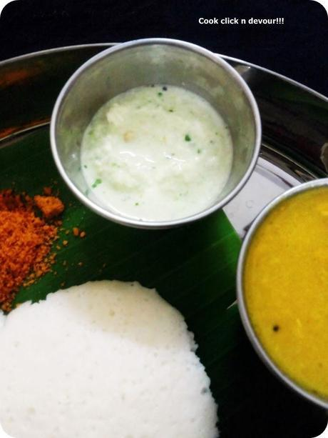 South Indian breakfast trail #4-Idly,medhu vadai,chutney & sambar