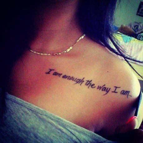 Quotes Tattoo Designs on heart