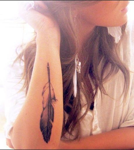 Feather Tattoo Design on Hands