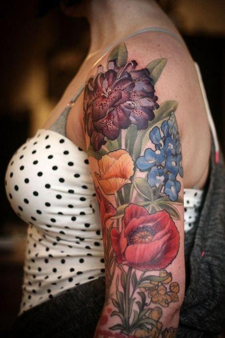 Sexy Flower Tattoo Designs on hands