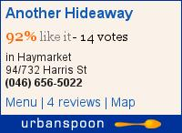 Another Hideaway on Urbanspoon