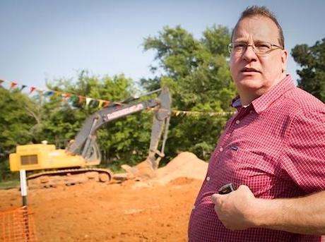 Former TransCanada employee Evan Vokes at a pipeline construction site in Texas. Photo Credit: Julie Dermanksy