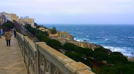 pulia otranto walking along the sea