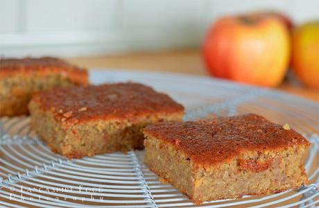 Spiced apple chickpea cake