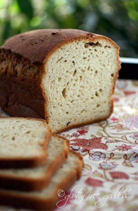 Gluten free bread loaf that is soft and fragrant