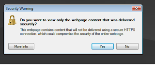 How To Fix IE 8 Warning For HTTPS Connections